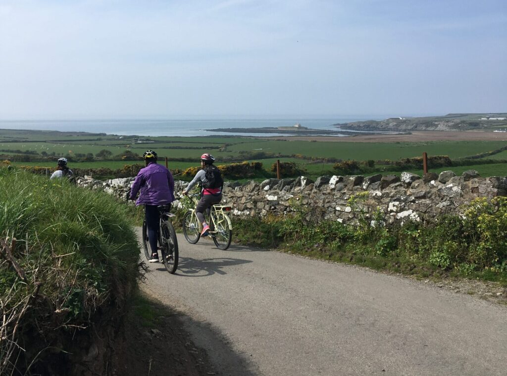 cycling to the sea Anglesey